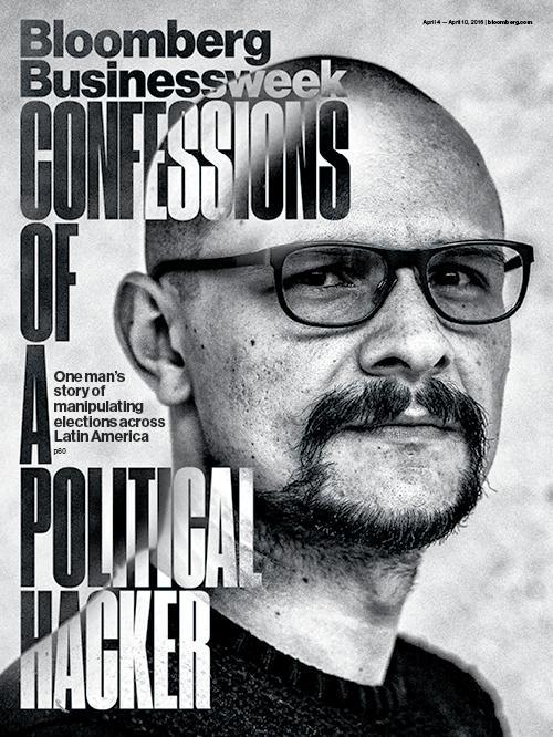 La portada de Bloomberg con la entrevista al hacker Andrés Sepúlveda.