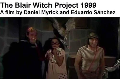 """""""El Proyecto de la Bruja de Blair"""" y el Chavo del 8. (Imagen: Twitter)"""