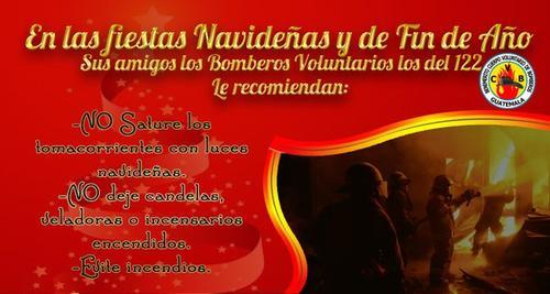 Recomendaciones para evitar incendios. (Bomberos Voluntarios)