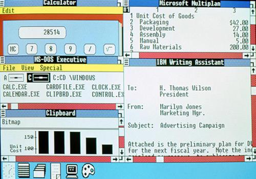 Vista del escritorio de Windows 2.0. (Foto: microsoft)