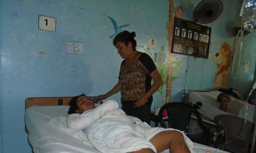 La pareja de Bravo permanece en un hospital después de haber sido agredida por su pareja. (Foto: El Nuevo Diario)