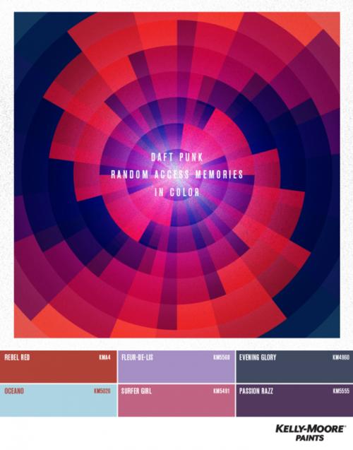 La paleta de colores del grupo francés Daft Punk.