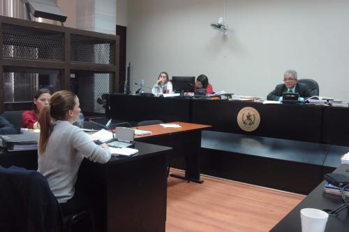 Daniela Beltranena declaró por más de tres horas frente al Juez Miguel Ángel Gálvez. (Foto: Jesús Alfonso/Soy502)