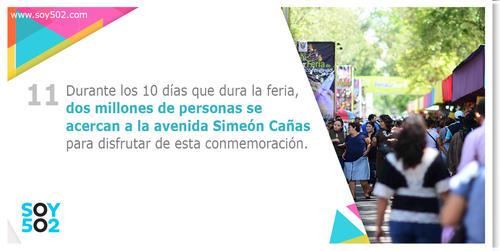 Los visitantes se aglomeran en los alrededores de la avenida Simeón Cañas y el Mapa en Relieve para disfrutar de los atractivos de la Feria de Jocotenango.