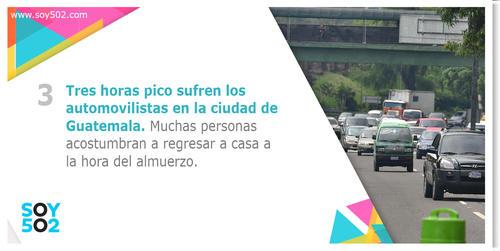 Muchas personas acostumbran a regresar a casa para la hora del almuerzo, dificultando el tránsito al mediodía.