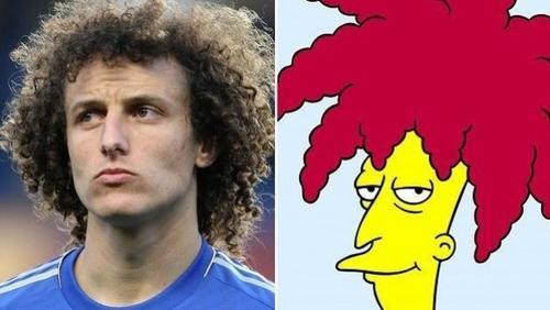 Muchos aficionados ven un gran parecido entre el personaje de los Simpson y el central brasileño Davis Luiz. (Foto: Chelsea F.C.)