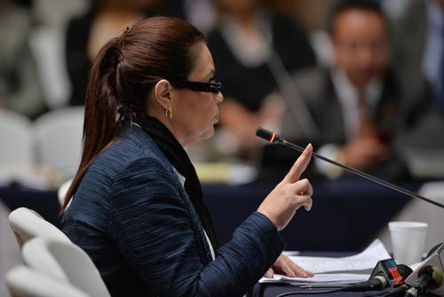 La exvicemandataria Roxana Baldetti declaró el mismo día que lo hizo Otto Pérez Molina. Ambos son sindicados en el caso Cooptación del Estado. (Foto: Wilder López/Soy502)