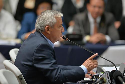 El expresidente Otto Pérez Molina rindió declaración el pasado lunes 27 de junio en el caso Cooptación del Estado. (Foto: Wilder López/Soy502)
