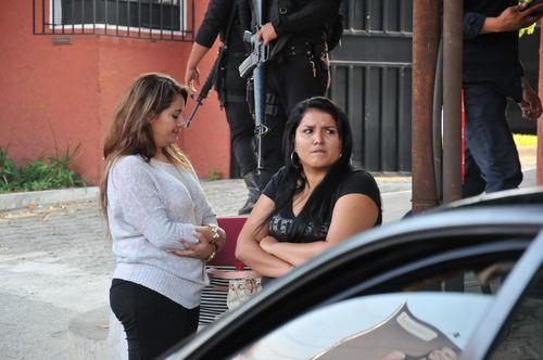 Ana Lucrecia Muñoz (D), una de las empresarias capturadas. (Foto: Nuestro Diario)