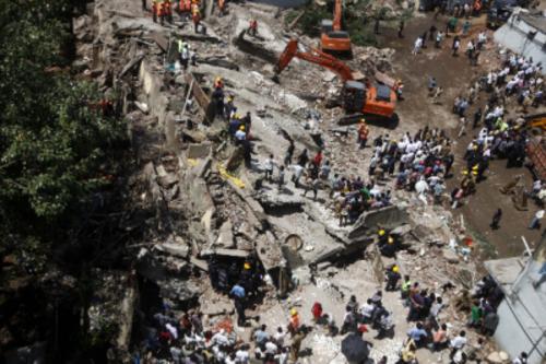 Los desplomes en áreas urbanas de la India son frecuentes por la mala calidad de los materiales
