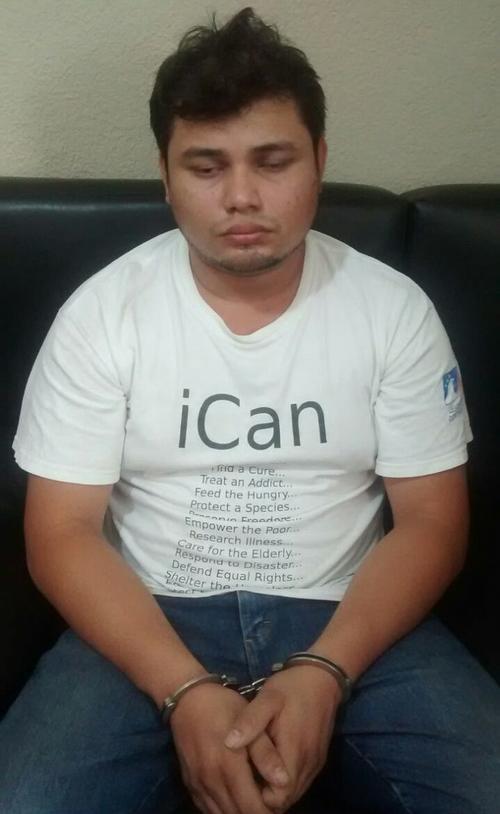 Las autoridades detuvieron a Enrique Humberto San Juan Berríos de 26 años, presunto secuestrador. (Foto: PNC)