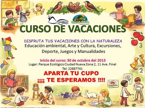 El curso estará lleno de Educación Ambiental, Arte y Cultura, Excursiones, Deportes, Juegos y Manualidades.