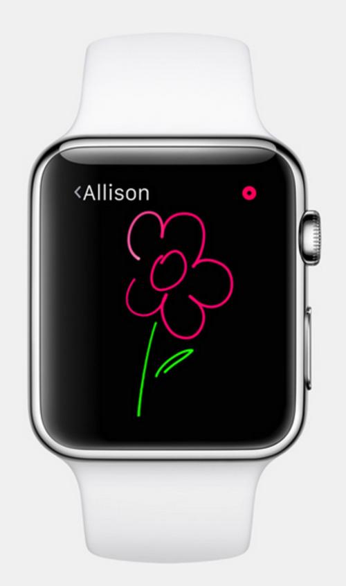 watchOS permite utilizar varios colores en un dibujo y ser compartido con otros usuarios. (Foto: apple.com)