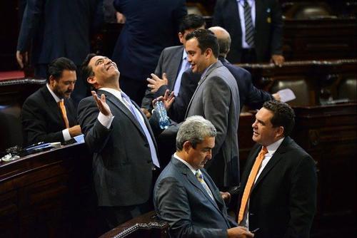 Imagen de archivo de unas sesión de pleno donde aparecen los diputados del partido Patriota. (Foto: Soy502)