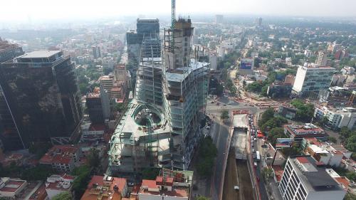 """Este es el proyecto de la Torre Manacar en México, hogar de """"Los Danzantes"""", pieza del guatemalteco Carlos Mérida. (Foto: arquired.com.mx)"""