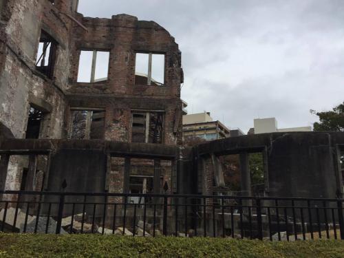 Vista lateral del domo de Hiroshima. (Foto: Dina Fernández)