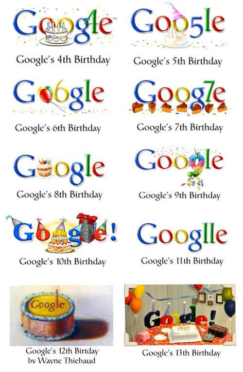 Aquí algunos de los Doodles de cumpleaños de Google.