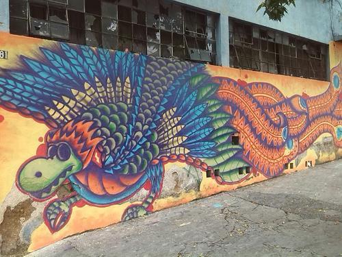 Esta es una de las piezas del artista en la calle. (Foto: Dopezilla)