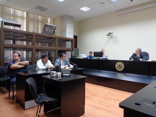 La audiencia para conocer sobre el traslado de Haroldo Mendoza Mata se realizó en el juzgado B de Mayor Riesgo. (Foto: Evelyn de León/soy502)