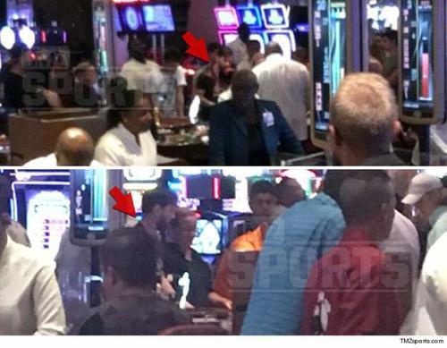 Las imágenes captadas por TMZ muestran a Messi jugando tranquilamente en un Casino. (Foto: TMZ)