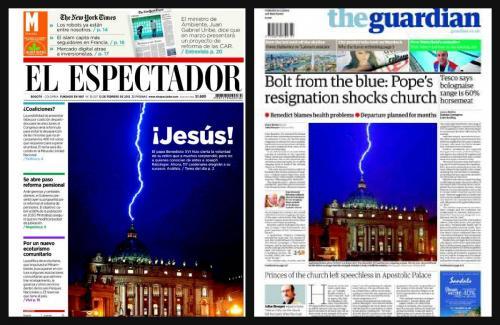 La noticia de la renuncia del Papa Benedicto XVI dió la vuelta al mundo. Foto Periodismo Digital