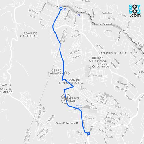 La Municipalidad de Mixco considera que el paso por la aldea El Campanero quedará habilitado en febrero. (Imagen: Javier Marroquín/Soy502)