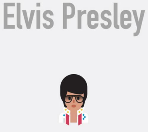 El emoji de Elvis Presley no podía hacer falta en la creación de Ribeiro. (Foto: Bruno Leo Ribeiro)