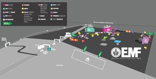 Este es el mapa de los escenarios que habrán en el Empire Music Fest. (Foto: facebook/Empire Music Fest)