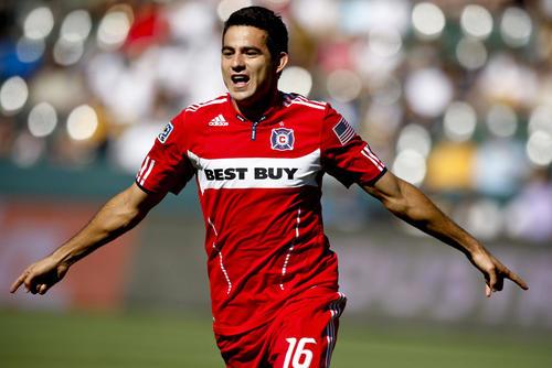 El volante guatemalteco, Marco Pappa,  ha disputado sus mejores torneos con el Chicago Fire de la MLS. (Nuestro Diario)
