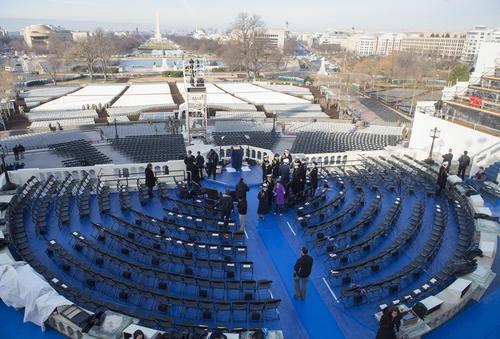 Ya se realizan ensayos para la toma de posesión del nuevo presidente de EE. UU.  Donald Trump el próximo 20 de enero. (Foto: www.infobae.com)