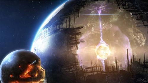 Así imaginan los artistas posibles civilizaciones extraterrestres. (Foto: Cortesía Edgar Castro Bathen).