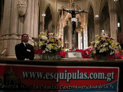 El pasado domingo en la catedral de Saint Patrick en Nueva York se realizó una misa para conmemorar la fecha del Cristo Negro de Esquipulas.