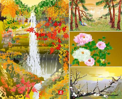 Las obras representan estampas tradicionales japonesas que han sido expuestas en varios museos de Japón.  (Foto: BoredPanda.com)