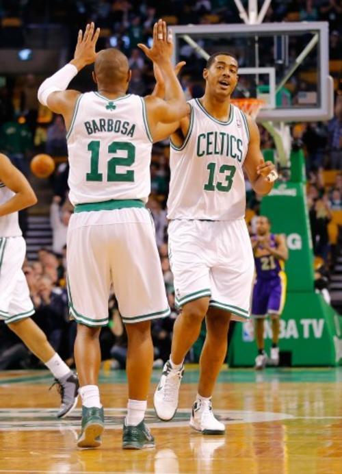 Fab Melo jugó seis partidos con los Celtics de Boston. (Foto: AFP)