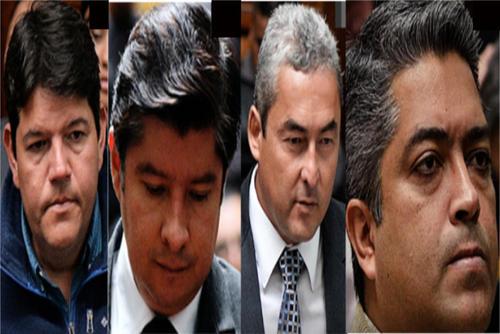 Ellos son los cuatro señalados en el caso Cooptación del Estado que lograron la falta de mérito. (Imagen: Soy502)