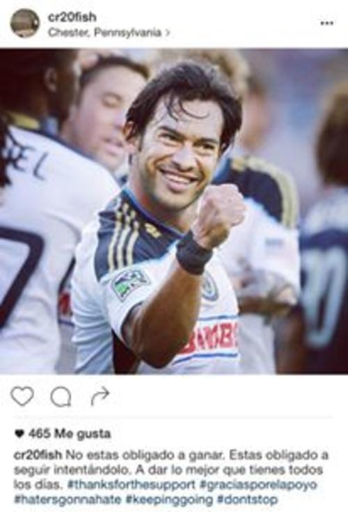 """Tras la publicación que dio la pauta sobre su retiro de Municipal, """"El Fish"""" volvió a escribir en su perfil de Instagram. (Imagen: Instagram)"""