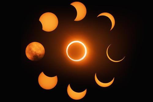 Eclipse anular de sol. (Foto: Iván Castro Peña, Guatemala)