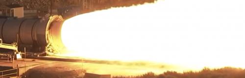Así son las pruebas del motor del cohete SLS. (Foto: Cortesía Edgar Castro Bathen)