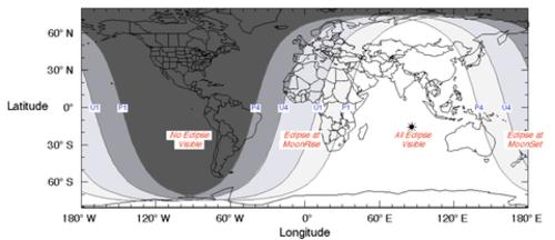 Áreas del eclipse. (Foto: NASA)