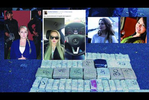 Cardona (I) presumía su carro nuevo en su Facebook; junto con otras tres mujeres, que habían sido reinas de belleza, fueron capturadas hace unos diez meses. (Foto: Archivo/Soy502)