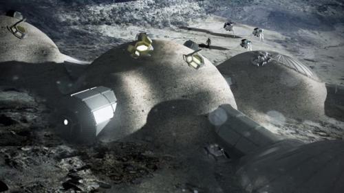 Así serán las bases en la luna. (Foto: Cortesía Edgar Castro Bathen)