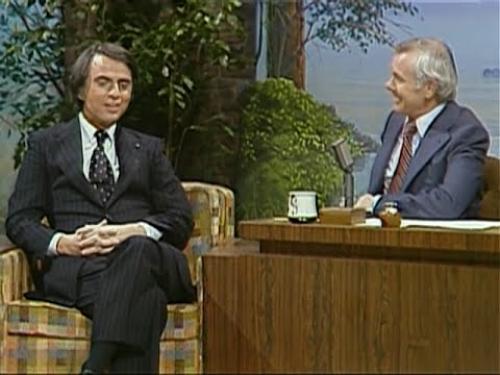 Carl Sagan fue un gran divulgador: difundió la ciencia en espacios de comunicación masiva, como el show de Johnny Carson. (Foto: cortesía Edgar Castro Bathen)
