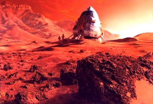 Así será la llegada a Marte. (Foto: Cortesía Edgar Castro Bathen)