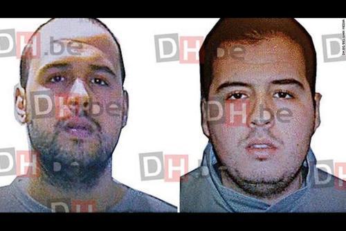 Estos son los hombres que habrían realizado el ataque con bombas en Bruselas. (Foto: CNN)