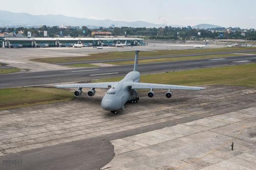 Vista del avión de las Fuerzas Armadas de EE.UU. (Foto: Cortesía David Ascoli)