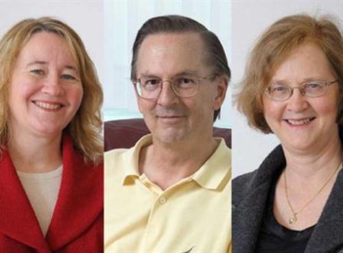 De izquierda a derecha, Carol W. Greider, Jack W. Szostak y Elizabeth Blackburn, ganadores del Nobel de Medicina en el 2009. (Foto: eluniverso.com)