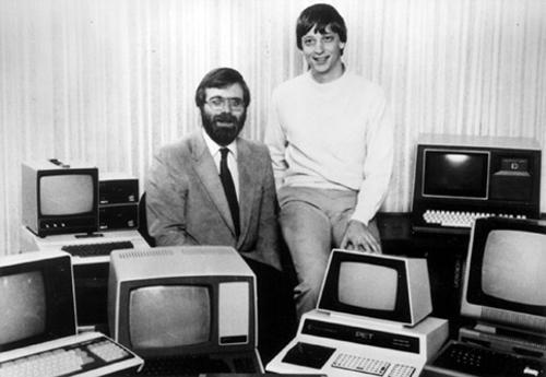 Los cofundadores de Microsoft, Paul Allen (izquierda) y Bill Gates. (Foto: Microsoft)