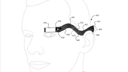 Este es el diseño que Google habría presentado para patentarlo para sus nuevas Google Glass.