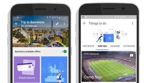 Google Trips te ofrece varias opciones que hacen más agradables tus viajes. (Foto: Mashable)