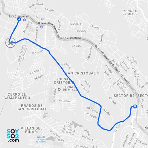 La Municipalidad de Mixco considera que en septiembre estará restablecido el paso en San Marino. (Imagen: Javier Marroquín/Soy502)